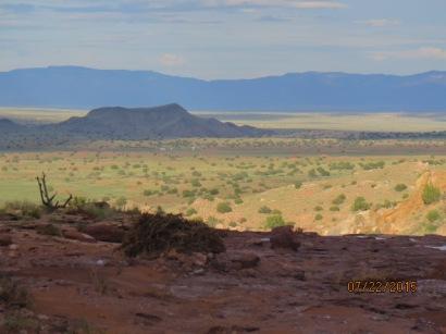 Sandia Mts. in shadow.
